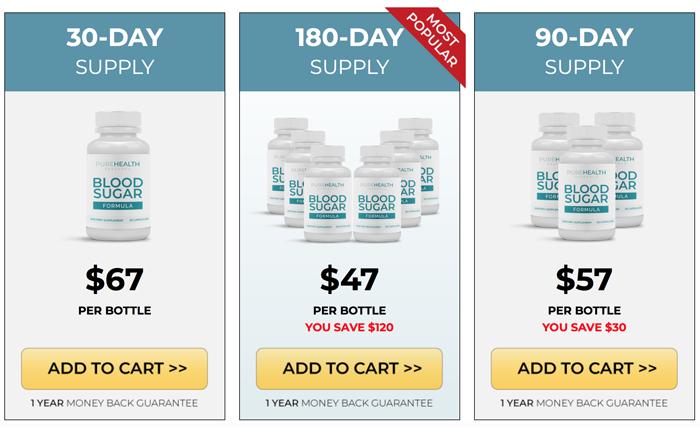 blood sugar formula price