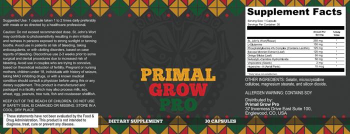 primal grow pro ingredients-
